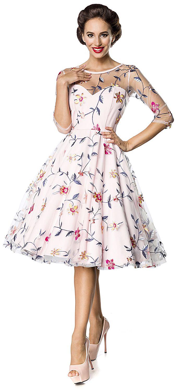 18a833c423ae Belsira. Retro Flower Dress. Stredne dlhé šaty