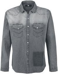 Sivá košeľa s opraným efektom
