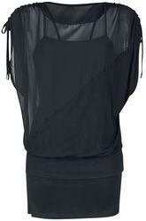 Šifónové šaty 2 v 1 s bočným rukávom