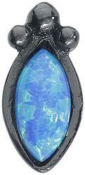 Piercing Push-fit Labret Black Blue Bindi Opal