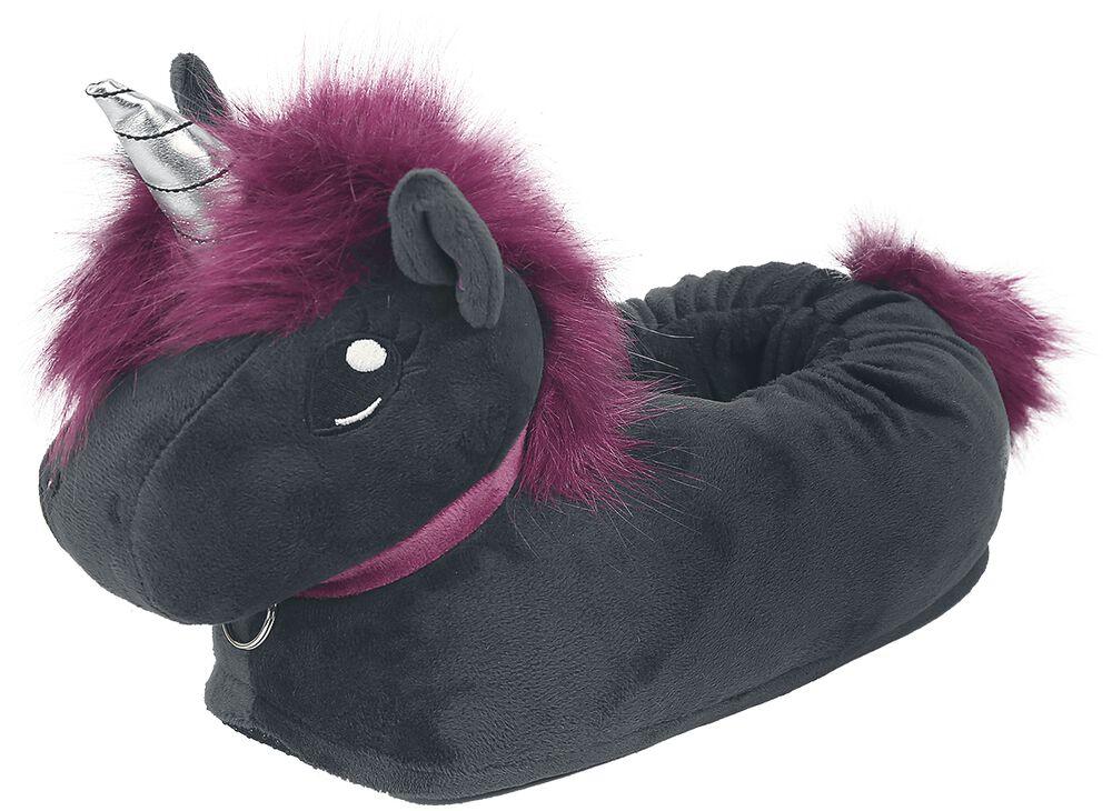 Ruby Punk Unicorn Adults' Slippers