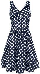 Šaty May so štýlovým Véčkom a bodkami