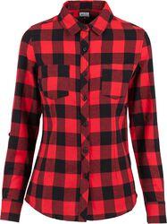 Dámska kockovaná flanelová košeľa