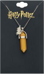 Náhrdelník Hufflepuff so žltým kamienkom
