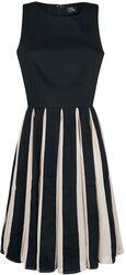 Šifónové retro plisované šaty Judith