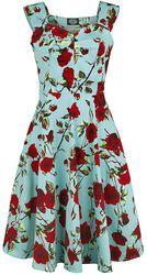 Letné šaty Ditsy s kvetmi v štýle 50. rokov