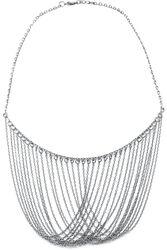 Sivý náhrdelník s dlhými retiazkami