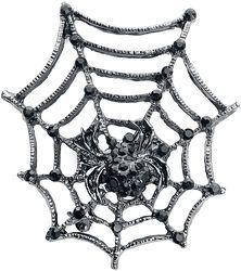 Brošňa s pavučinou a pavúkom
