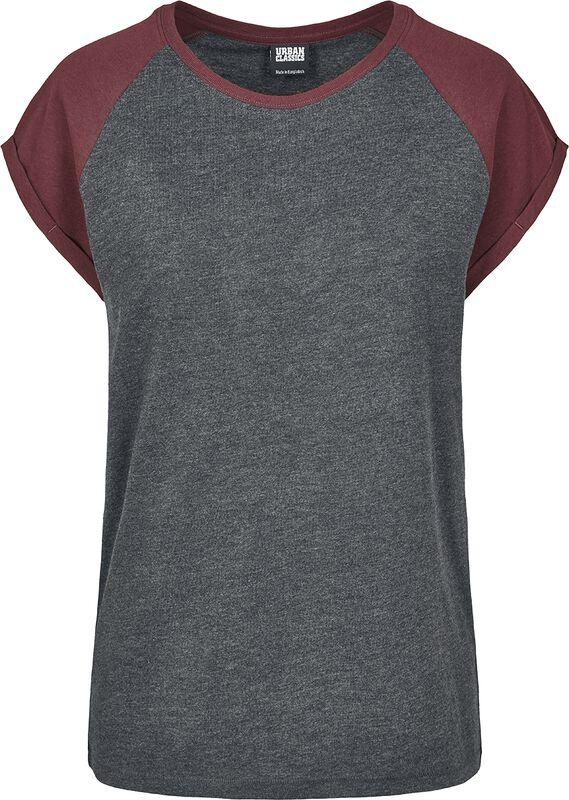 Dámske kontrstné raglanové tričko