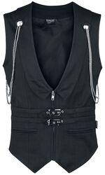 Pánska gotická vesta Fishbone