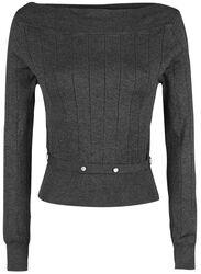 Pletený sveter s dlhými rukávmi