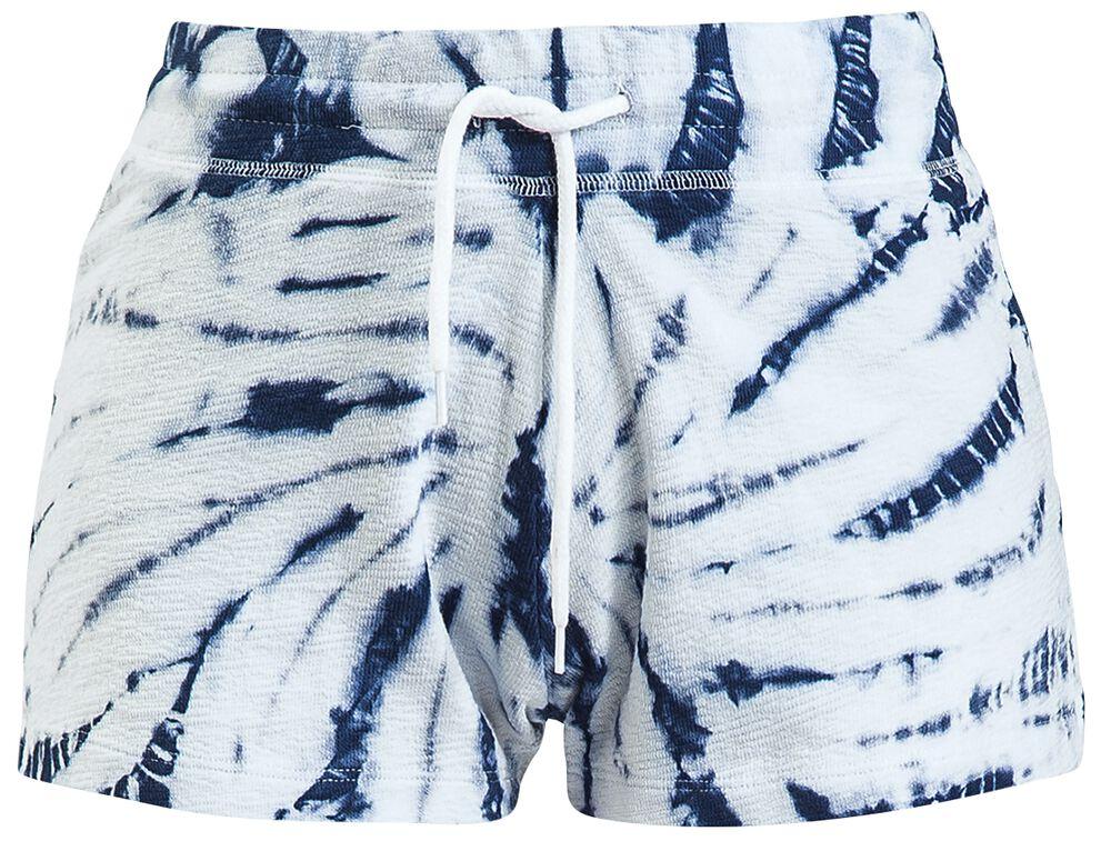 Modro-biele batikované šortky