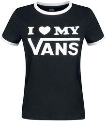 Tričko s kontrastným lemovaním Vans Love