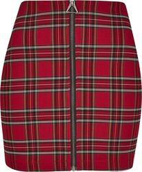 Dámska krátka kockovaná sukňa
