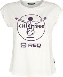 Biele tričko RED X CHIEMSEE s potlačou