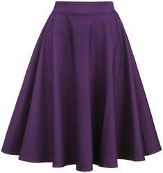 Jednofarebná kruhová sukňa s vysokým pásom Shirley